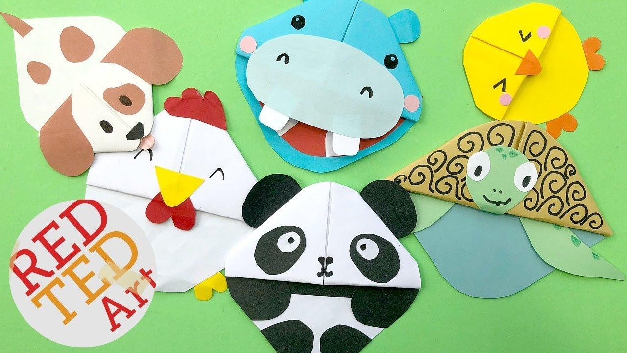 Image of: Step Kawaii Bookmark Corners Diy Kawaii Animals Diy Panda Puppy Dog Chicken Chick Hippo Turtle Youtube Kawaii Bookmark Corners Diy Kawaii Animals Diy Panda Puppy