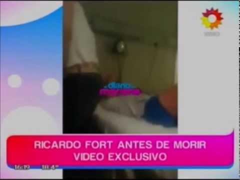Difunden video de Ricardo Fort dos días antes de su muerte