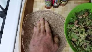 Raw Vegan Salad Burrito With Organic Black Beans