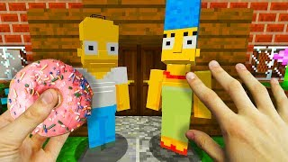 REALISTIC MINECRAFT - STEVE MEETS THE SIMPSONS! 🍩