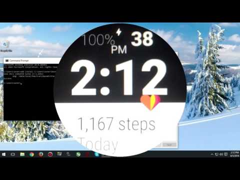 Install Custom Watch Faces On Android Wear With IOS (Old Version)