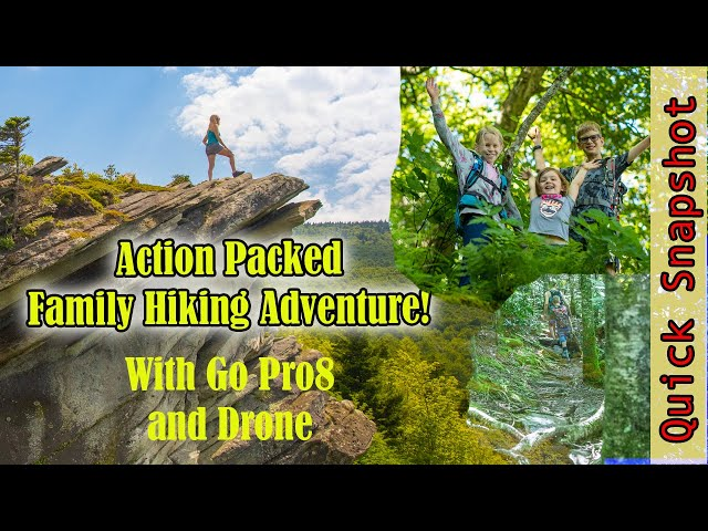 On the Edge!! Epic, Action Packed Hiking Video with Kids! | GoPro8 and DJI Drone