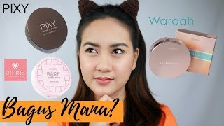 BATTLE CUSHION LOKAL PIXY, EMINA, WARDAH YANG HITS KEKINIAN ON OILY ACNE SKIN (+ Uji Ketahanan)