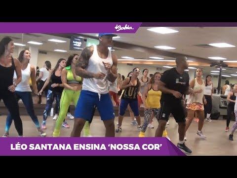 Leo Santana ensina a coreografia da música