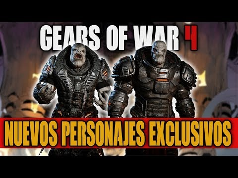 NUEVOS PERSONAJES EXCLUSIVOS!! VOLD RAAM & UZIL SRAAK | GEARS OF WAR 4