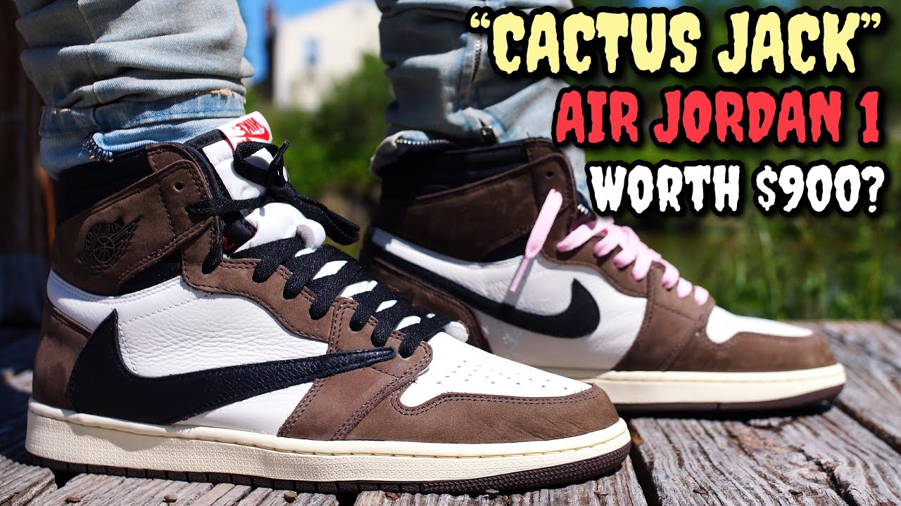 official photos f7d4e 82ef3 WORTH THE HYPE!? TRAVIS SCOTT/CACTUS JACK AIR JORDAN 1 ON FEET REVIEW!  EVERYTHING YOU NEED TO KNOW!