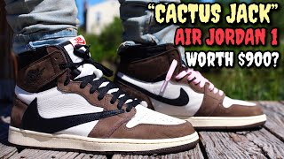 WORTH THE HYPE!? TRAVIS SCOTT/CACTUS JACK AIR JORDAN 1 ON FEET REVIEW! EVERYTHING YOU NEED TO KNOW!