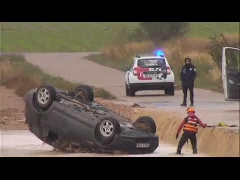 VÍDEO | Dos hermanos mueren al ser arrastrado su coche por el temporal en Caudete