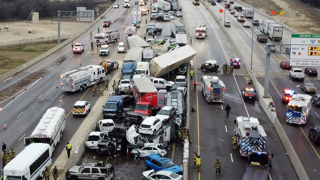 At least 5 dead in Fort Worth pile-up after freezing rain causes icy ...