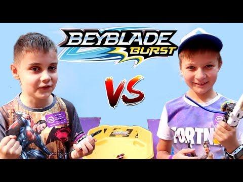 Бейблейд БИТВА 🥊 Супер Тима VS Эдик FunTube! Кто КРУЧЕ играет в Beyblade Burst?