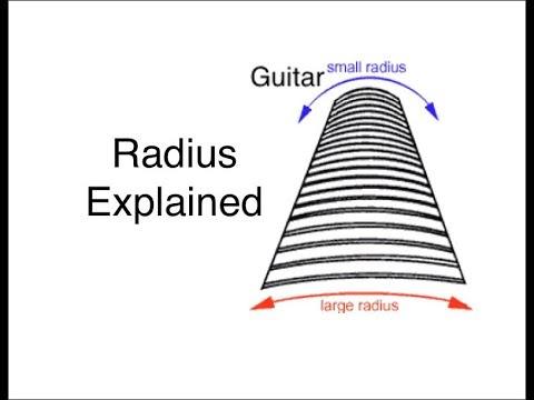 Guitar Radius Fretboard Curvature Explained Youtube