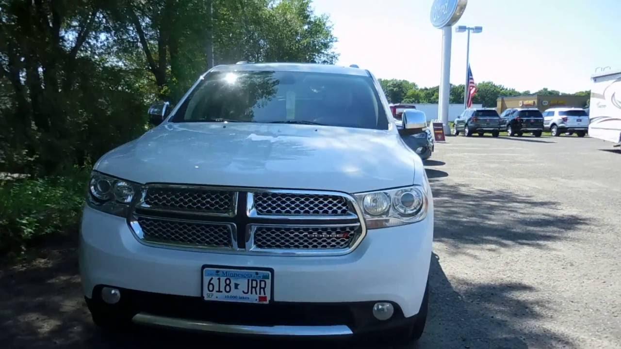 Used 2013 Dodge Durango Citadel White 36l V6 Awd Elk River Ramsey 2012 Crew Coon Rapids Blaine Mn