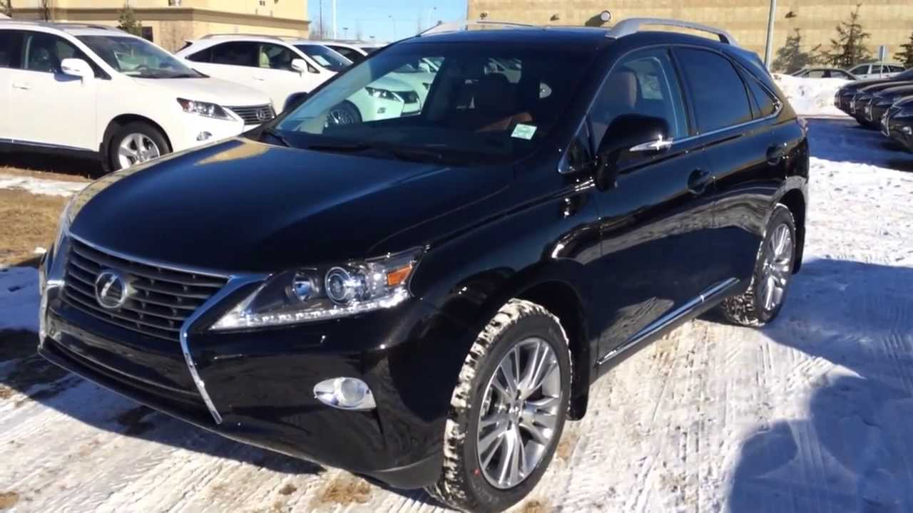 2014 lexus rx 350 awd touring package review black on saddle tan youtube. Black Bedroom Furniture Sets. Home Design Ideas