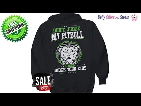 Pitbull Dog Love - Don't Judge Pitbull Hoodie