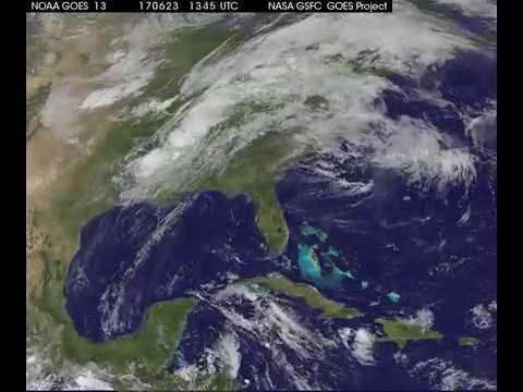 NASA Animation Shows Cindy Move Off Atlantic Coast