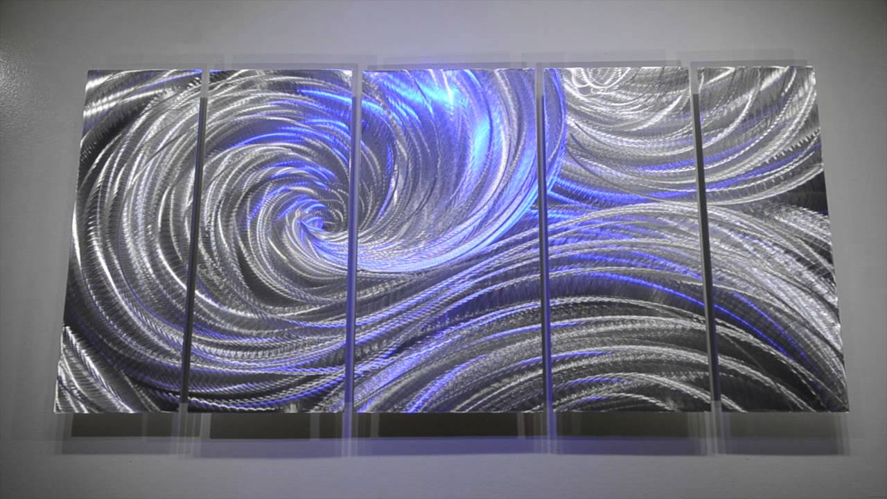 3d Wall Decor Lights : Abstract metal art modern hand made sculpture wall decor