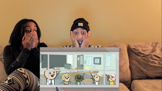 couple reacts crazy cyanide and happiness short called classroom