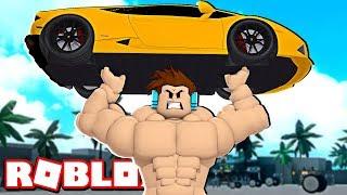 FICANDO AINDA MAIS FORTE NO ROBLOX ! - ( Roblox Super Power Training Simulator)