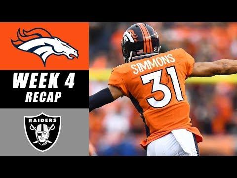 Broncos vs Raiders Recap: Week 4 2017