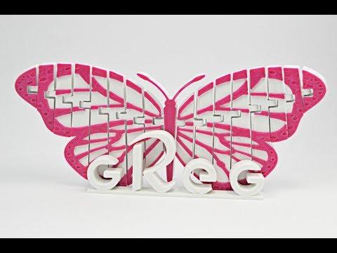 Articulated Monarch и Skulls напечатанные пластиком Greg на 3D принтере Flyingbear P905