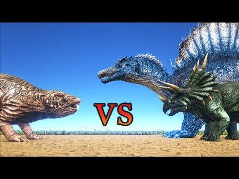 Roll Rat Vs Trike Amp Spinosaurus Ark Survival Evolved