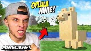 TA LAMA OPLUŁA MNIE w Minecraft! *Menda*