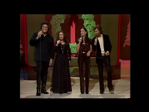Johnny Cash, June Carter Cash, Kris Kristofferson and Rita Coolidge  Christmas Time´s AComin´