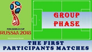 The First Participants Matches: FIFA World Cup 2018 Standings