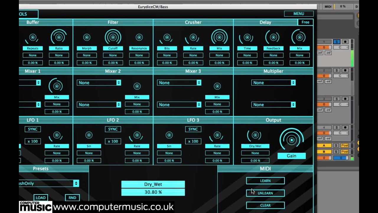 Eurydice CM - FREE VST/AU multi-effect plugin for PC and Mac