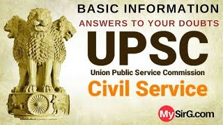 UPSC Exam related information
