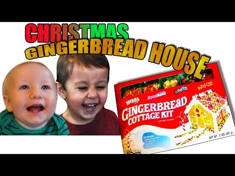 KIDS MAKE CHRISTMAS GINGERBREAD HOUSE
