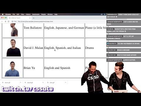 HTML BASICS - CS50 on Twitch, EP. 26