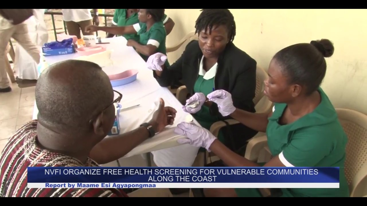 NVFI Organize free health screening for vulnerable communities  along the coastal coast