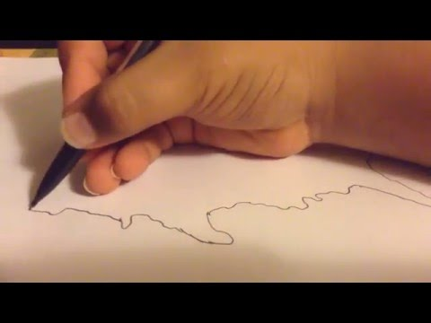 How to draw outline of US map easy and simple
