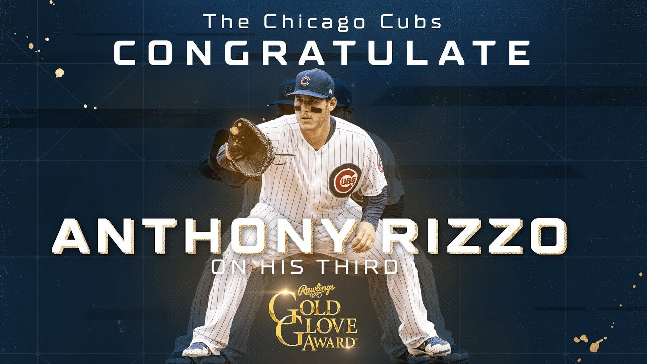Cubs First Baseman Anthony Rizzo Wins Third Career Gold Glove