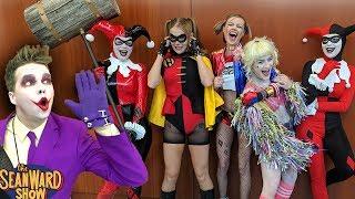 THE JOKER vs COMIC CON! Batman, Harley Quinn, Spider-Man! The Sean Ward Show