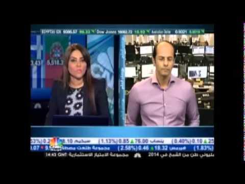 أشرف العايدي في سي أن بي سي العربية - 14 أغسطس 2014 Chart