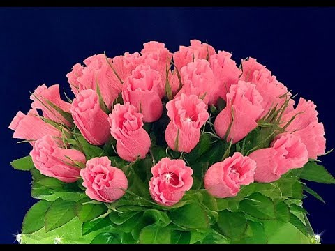 🎁 Подарок на 8 Марта Маме Учителю своими руками Букет Конфет Бутон Роза Поделки бумаги.