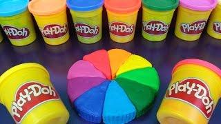 Play Doh Rainbow Cake Surprise Toys SpongeBob Princess Thomas The Tank The Simpsons Thumbnail