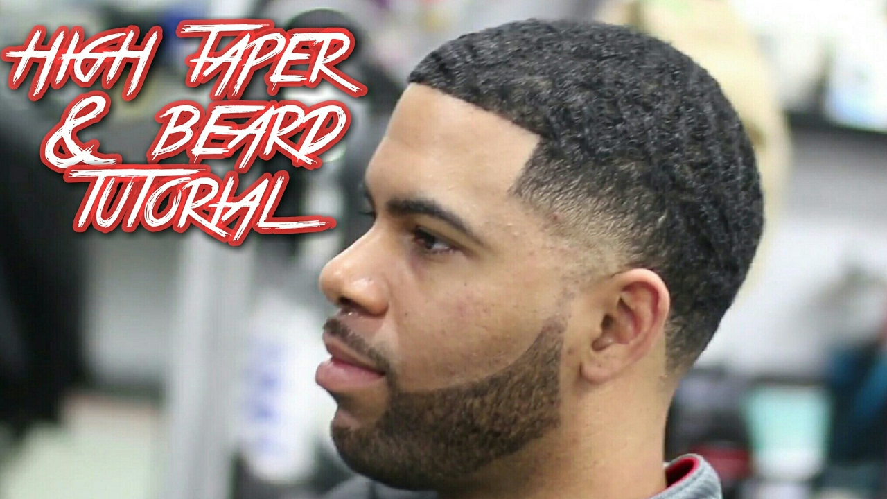 Hair Style With Beard: High Taper & Beard Haircut Tutorial! With Ripples On Top