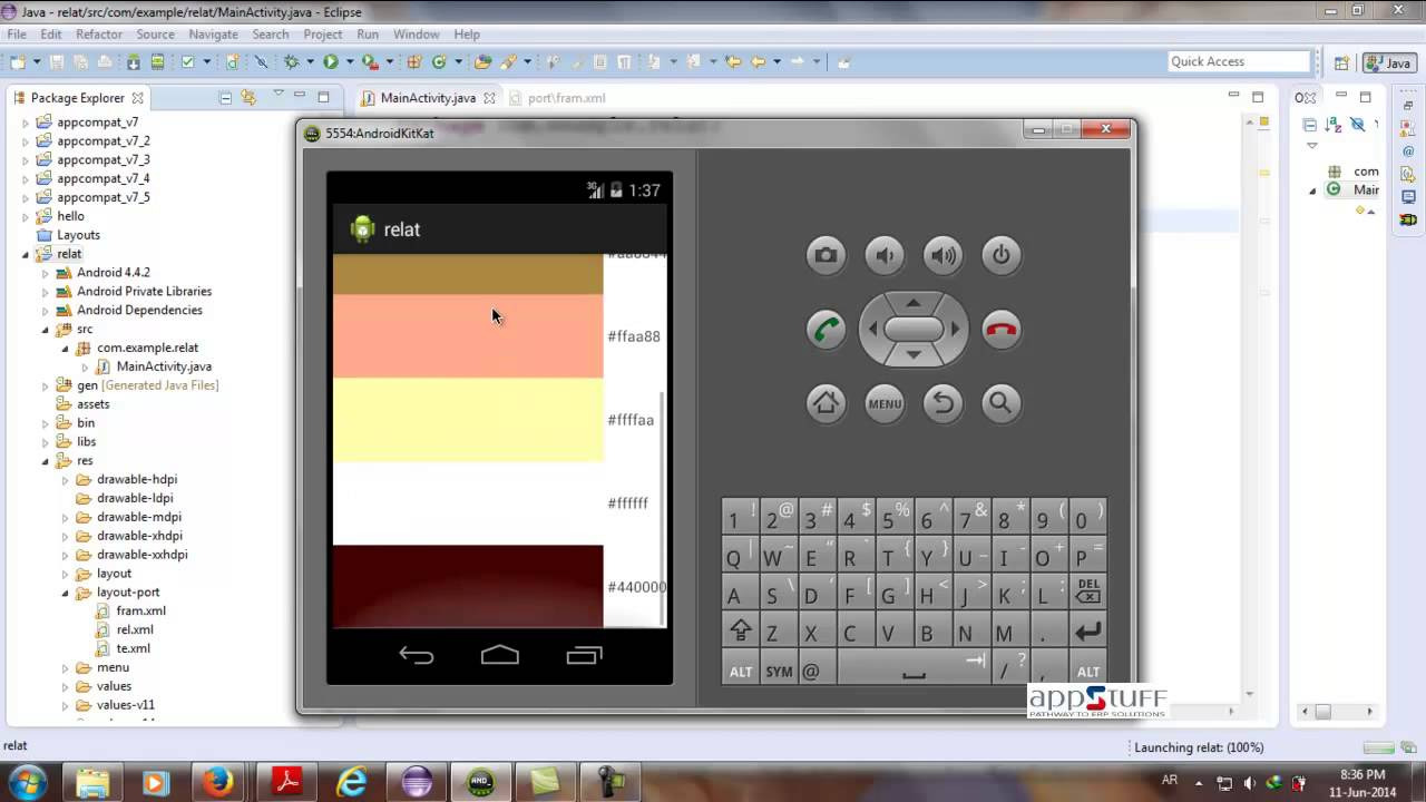 Android0010 ScrollView FrameLayout - YouTube