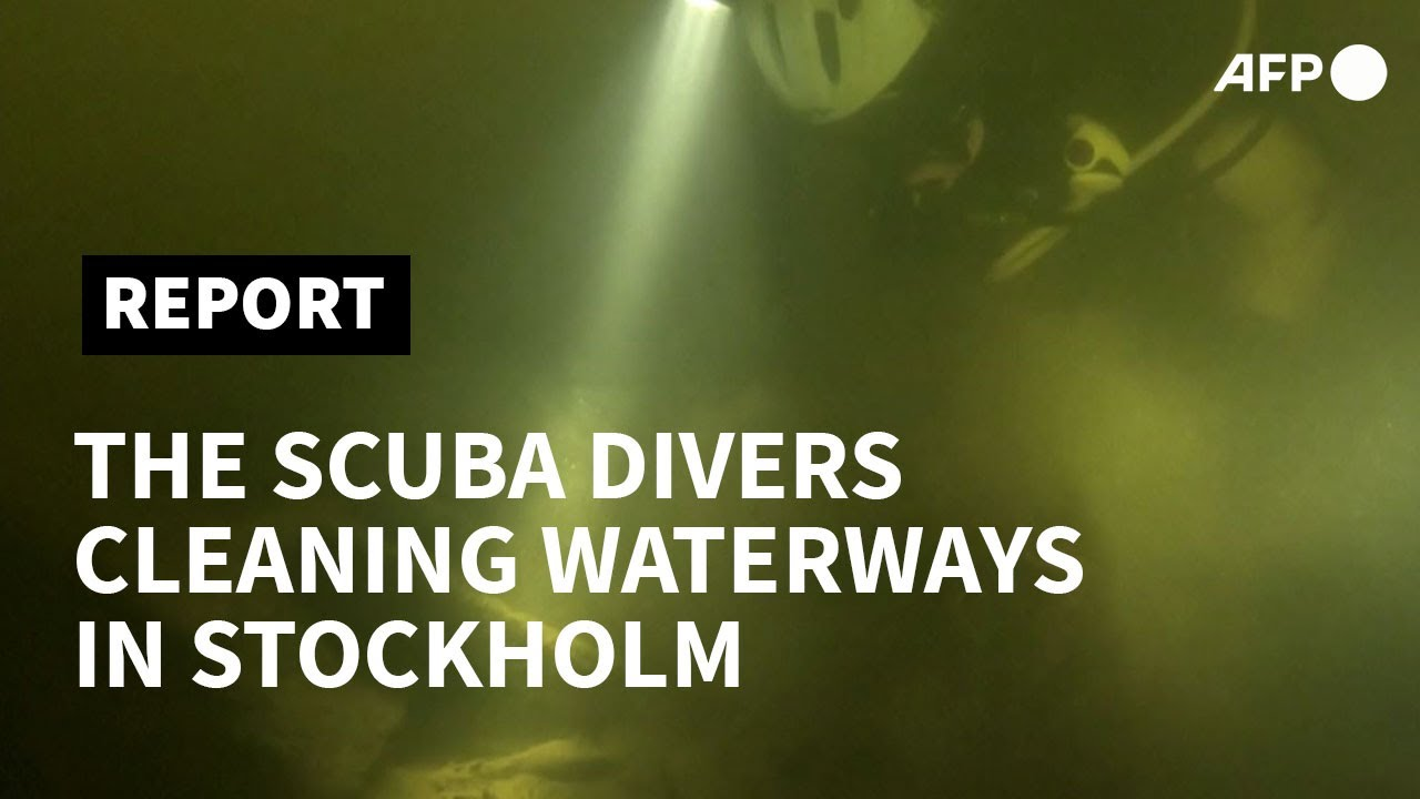 Swedish scuba enthusiast cleans up Stockholm's waterways one dive at a time | AFP