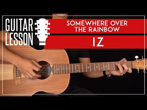 Somewhere Over The Rainbow Guitar Tutorial 🎸🌈 Israel IZ Kamakawiwoʻole Guitar Lesson |Easy Chords|