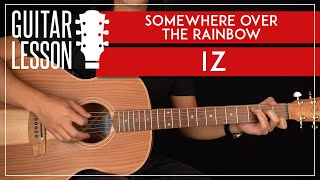 Somewhere Over The Rainbow Guitar Tutorial 🎸🌈 Israel IZ Kamakawiwoʻole Guitar Lesson  Easy Chords 