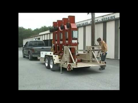 Liftgate Trailer For Truck And Bus Lifts Mpg Youtube