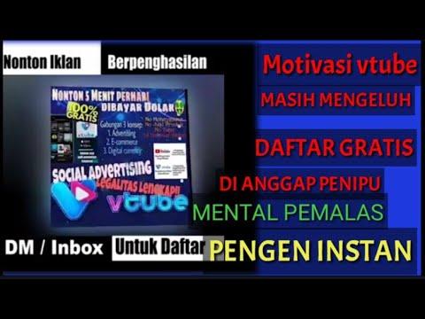 Vtube Dan Youtobe Peluang Penghasil Uang Motivasi Vtube Youtube
