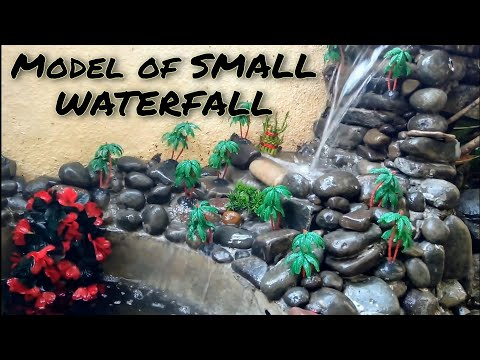 DIY waterfall model for small place