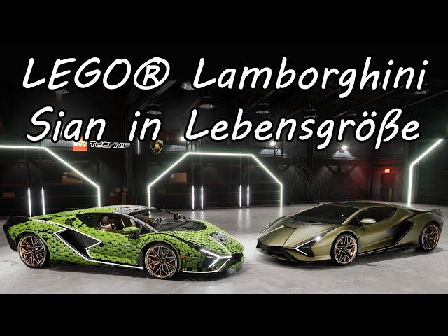 News:  LEGO® Technic™ Lamborghini Sián FKP 37 in Lebensgröße nachgebaut