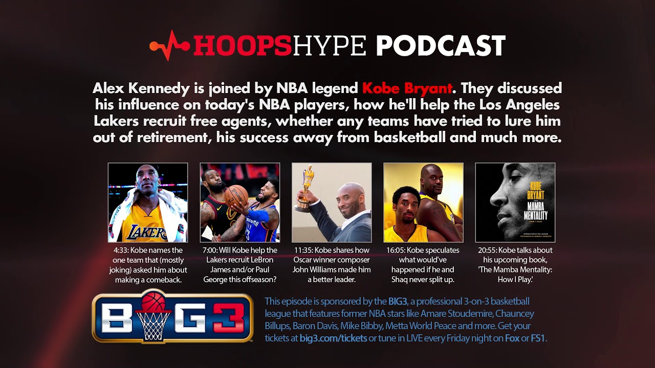7084b367924 Q&A: Kobe Bryant opens up about his career, life after basketball,  recruiting for the Lakers and more | HoopsHype