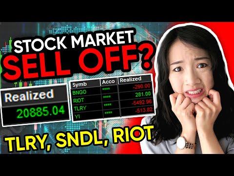 Trading Market Sell Off? $TLRY $SNDL $RIOT trading recap